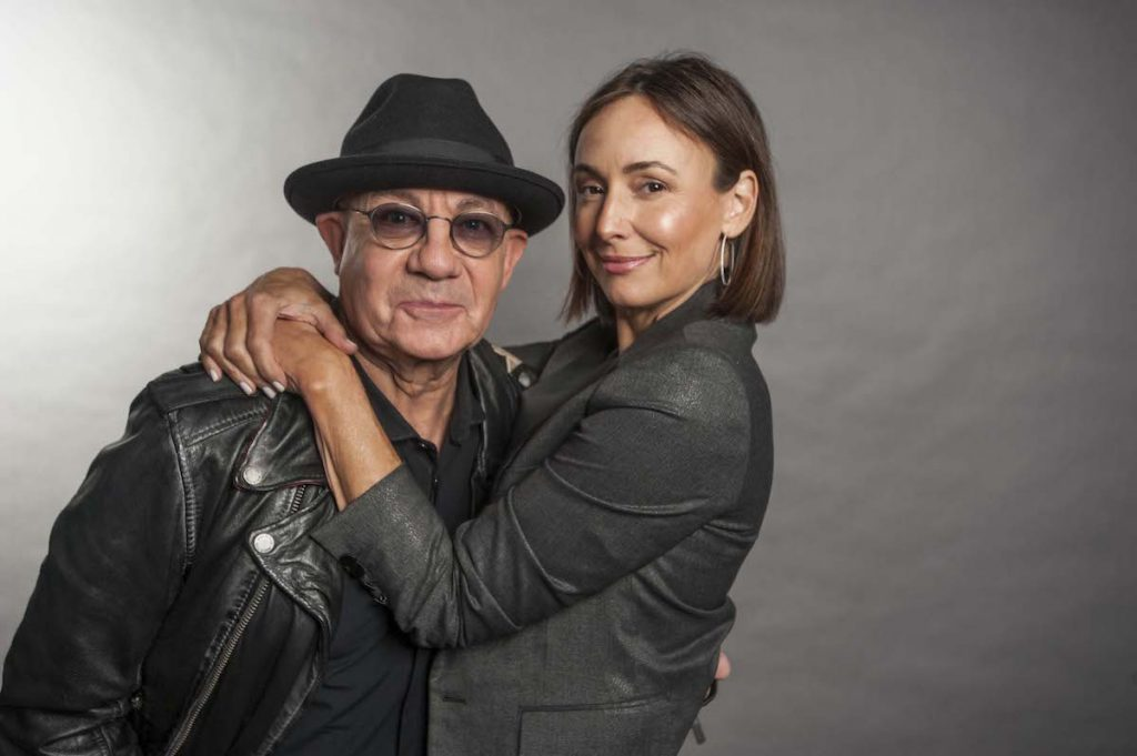 Bernie Taupin with wife Heather Lynn Hodgins Kidd