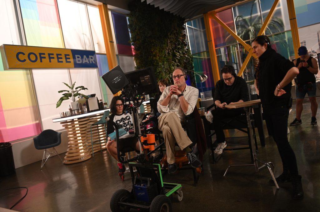 Director Jon Turteltaub and cinematographer Shasta Spahn on the set of ZOEY'S EXTRAORDINARY PLAYLIST
