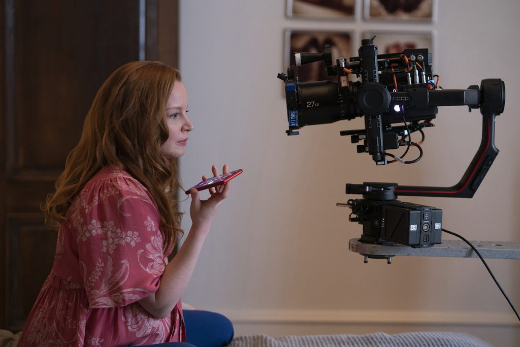 Behind-the-Scenes look at actress Lauren Ambrose in the Apple TV+ series, SERVANT
