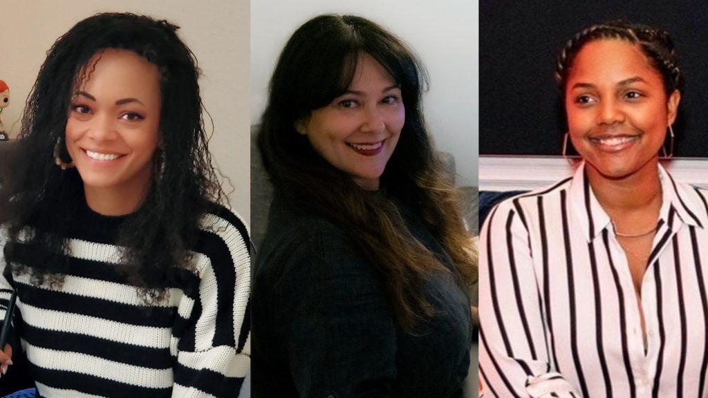 A BLACK LADY SKETCH SHOW Editors Stephanie Filo, Jessica Hernández, and Daysha Broadway.