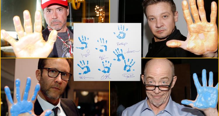 Robert Downey Jr., Jeremy Renner, Michael Rosenbaum, and JK Simmons show their support for Aiding Australia