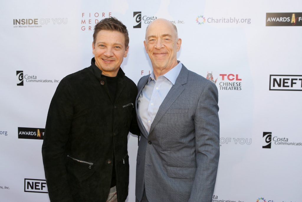 Jeremy Renner and JK Simmons at the Aiding Australia event