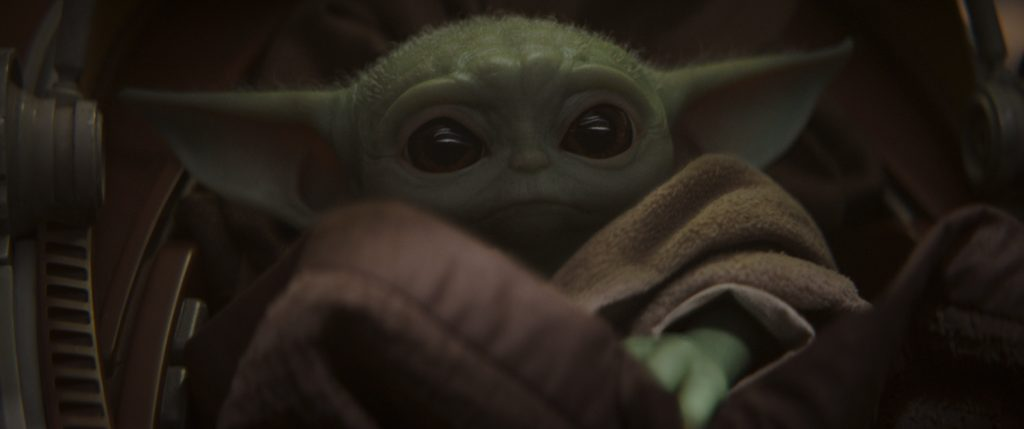 The Child (Baby Yoda) in THE MANDALORIAN, exclusively on Disney+