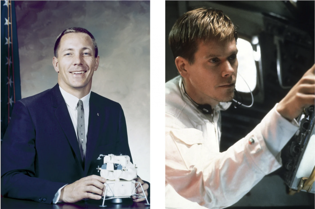 Astronaut Jack Swingert played by Kevin Bacon in APOLLO 13.