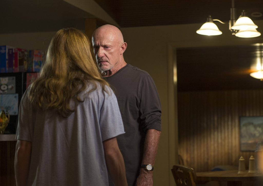 "Kerry Condon as Stacey and Jonathan Banks as Mike Ehrmantraut in ""Better Call Saul"""