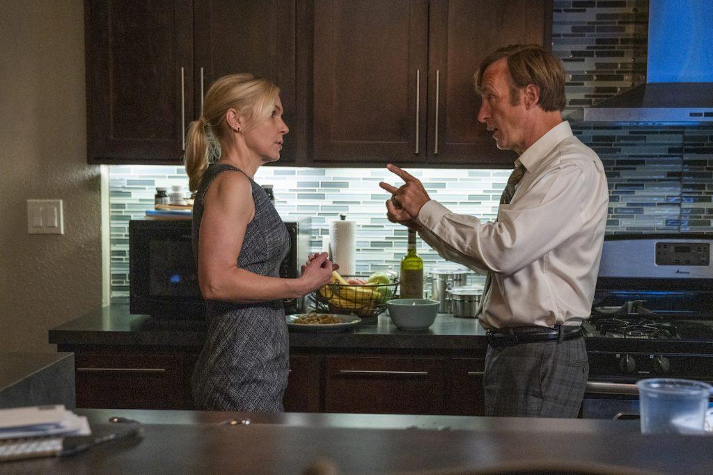 """Rhea Seehorn as Kim Wexler, Bob Odenkirk as Jimmy McGill in """"Better Call Saul"""""""