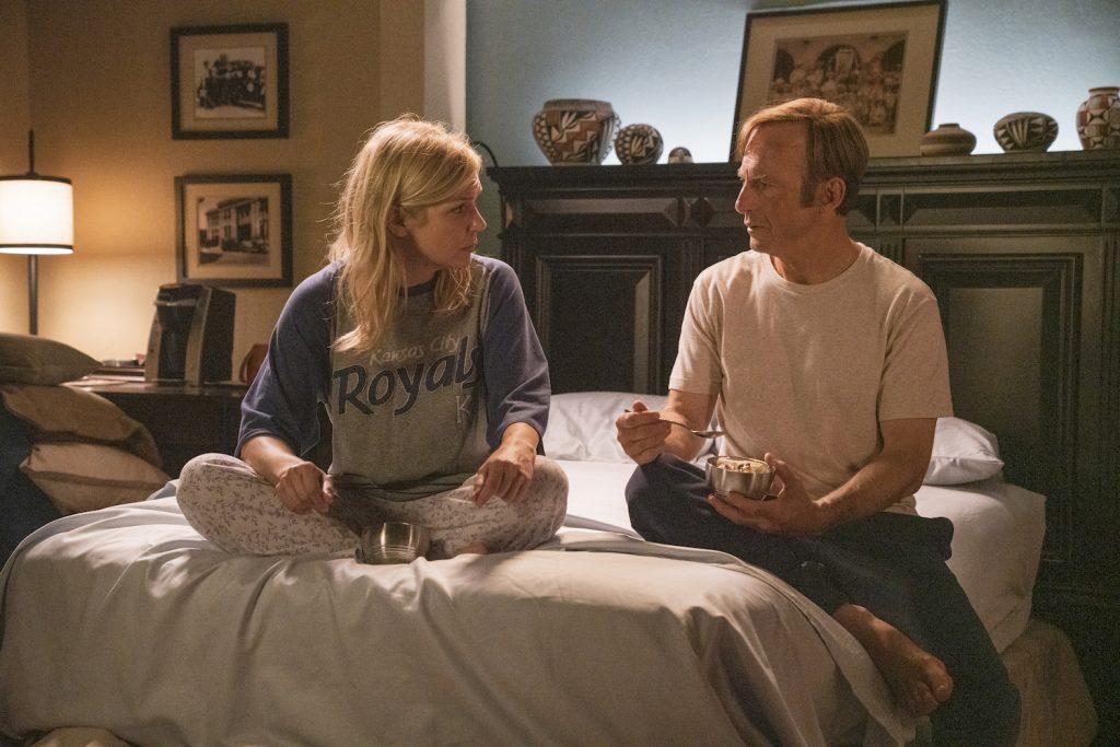 """Seehorn as Kim Wexler, Bob Odenkirk as Jimmy McGill in """"Better Call Saul"""""""
