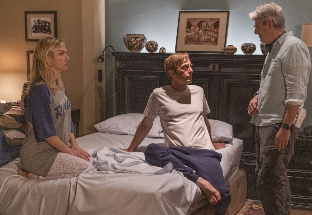 """Behind-the-Scenes with Executive Producer Peter Gould, Rhea Seehorn as Kim Wexler, Bob Odenkirk as Jimmy McGill on """"Better Call Saul"""""""