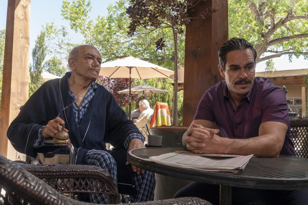 "Mark Margolis as Don Hector Salamanca, Tony Dalton as Lalo Salamanca in ""Better Call Saul"""