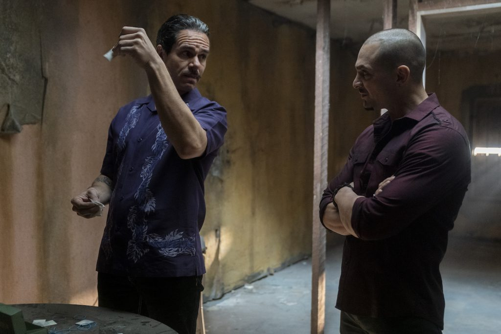 "Michael Mando as Nacho Varga, Tony Dalton as Lalo Salamanca in ""Better Call Saul"""