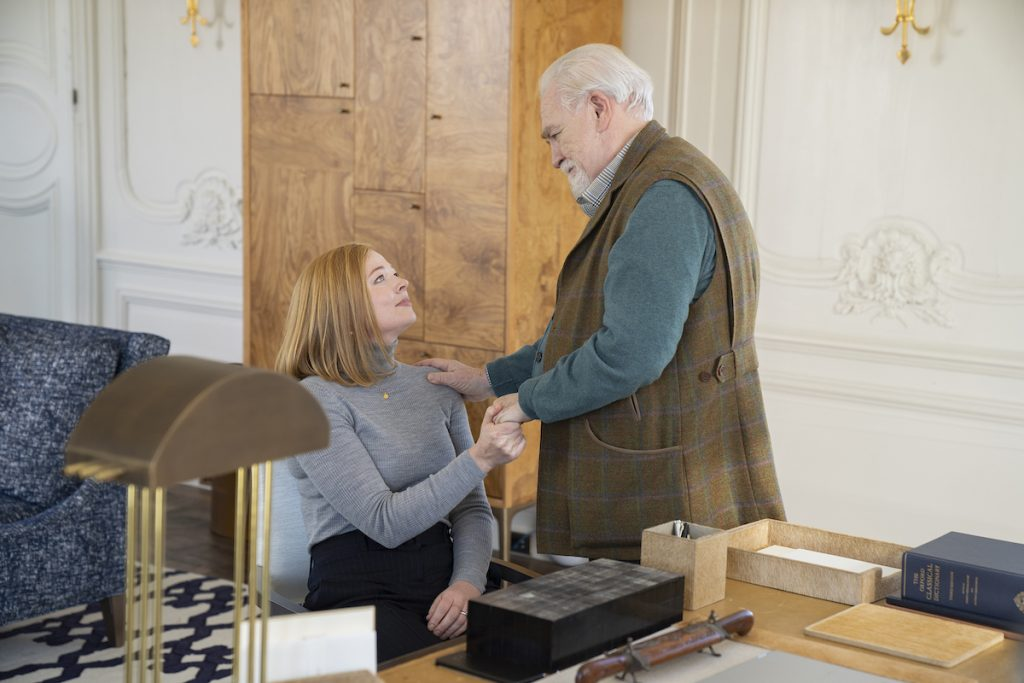 Sarah Snook and Brian Cox in HBO'S SUCCESSION