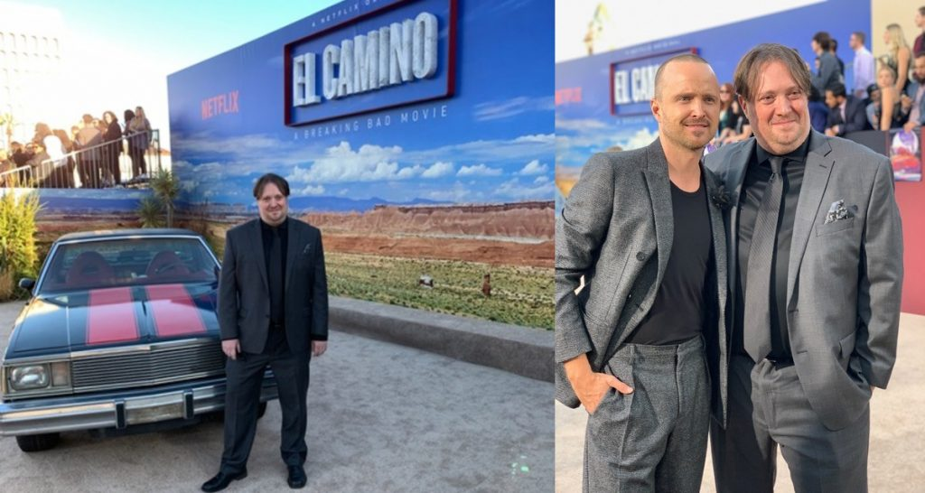 Composer Dave Porter and Aaron Paul (Jesse Pinkman) at the EL CAMINO Premiere