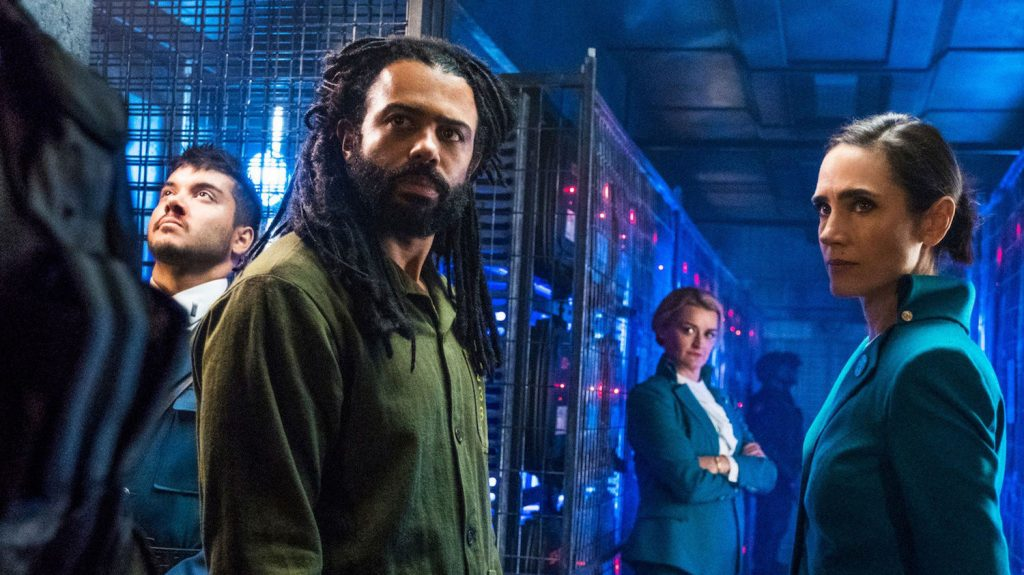 Daveed Diggs and Jennifer Connelly in SNOWPIERCER