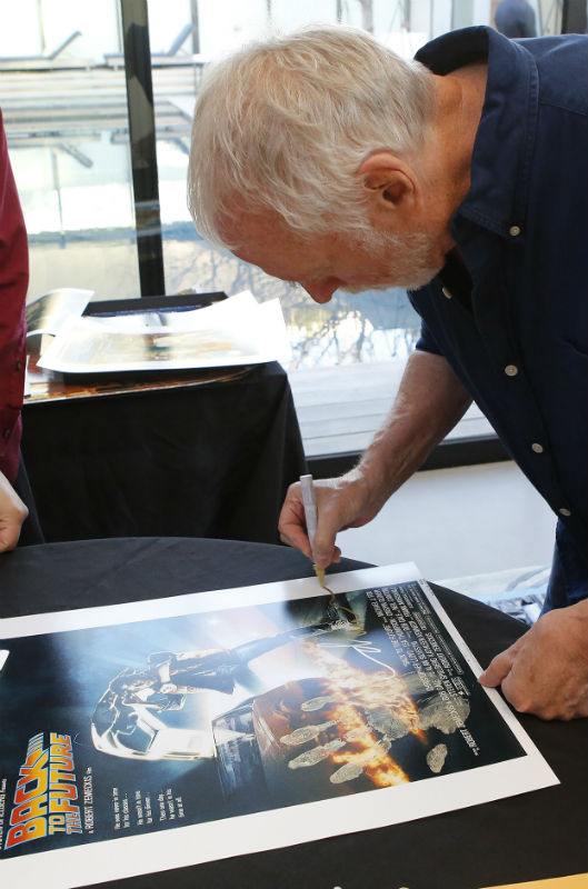 Back to the Future poster signed by Drew Struzman