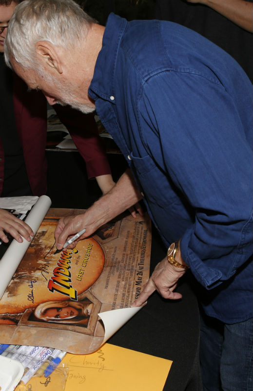 Indiana Jones and the Last Crusade poster signed by Drew Struzman