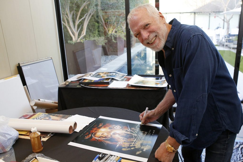 Artist Drew Struzan at the Aiding Australia Benefit Event. (Photo by: David Yeh)