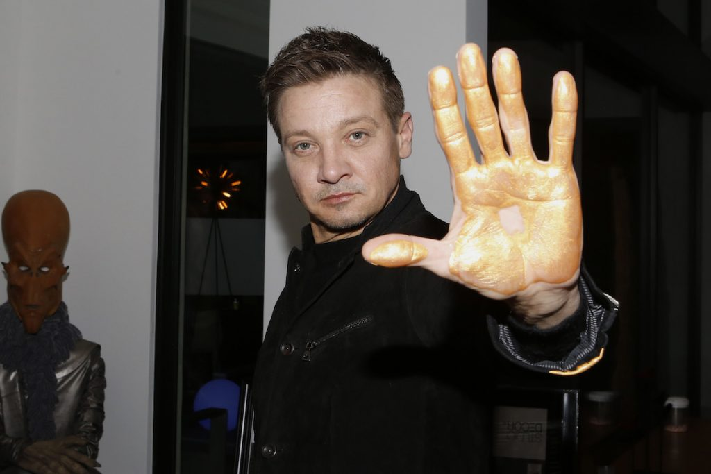 Jeremy Renner at the Aiding Australia Benefit Event