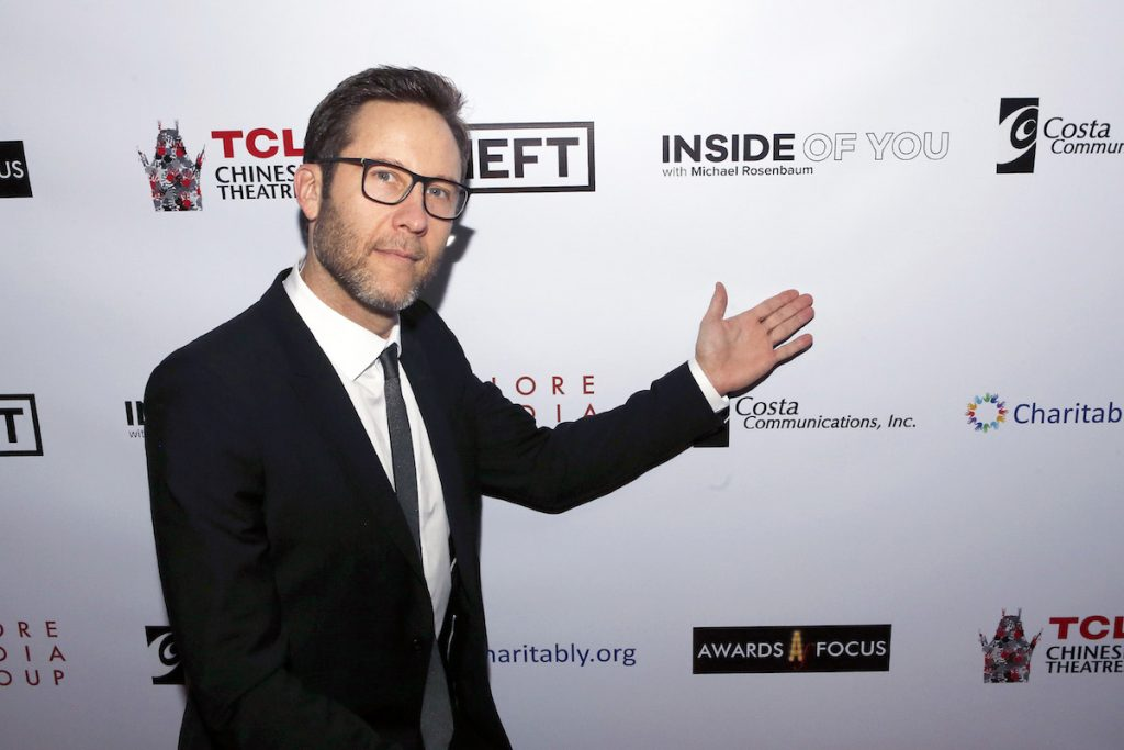Michael Rosenbaum of the 'Inside of You with Michael Rosenbaum' podcast at the Aiding Australia Benefit. (Photo by: David Yeh)