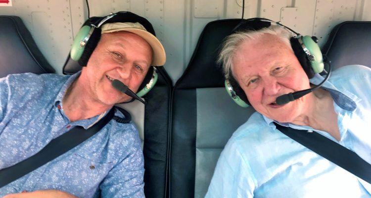 Cinematographer Gavin Thurston and Sir David Attenborough