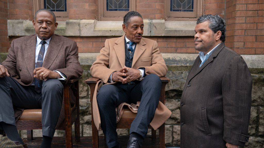 Forest Whitaker, Giancarlo Esposito, and Luis Guzman in GODFATHER OF HARLEM