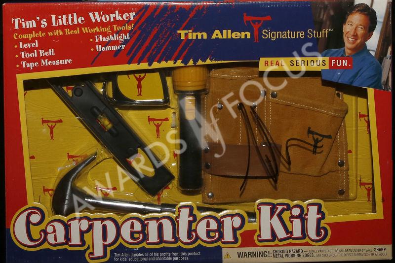 Home Improvement Carpenter Kit signed by Tim Allen