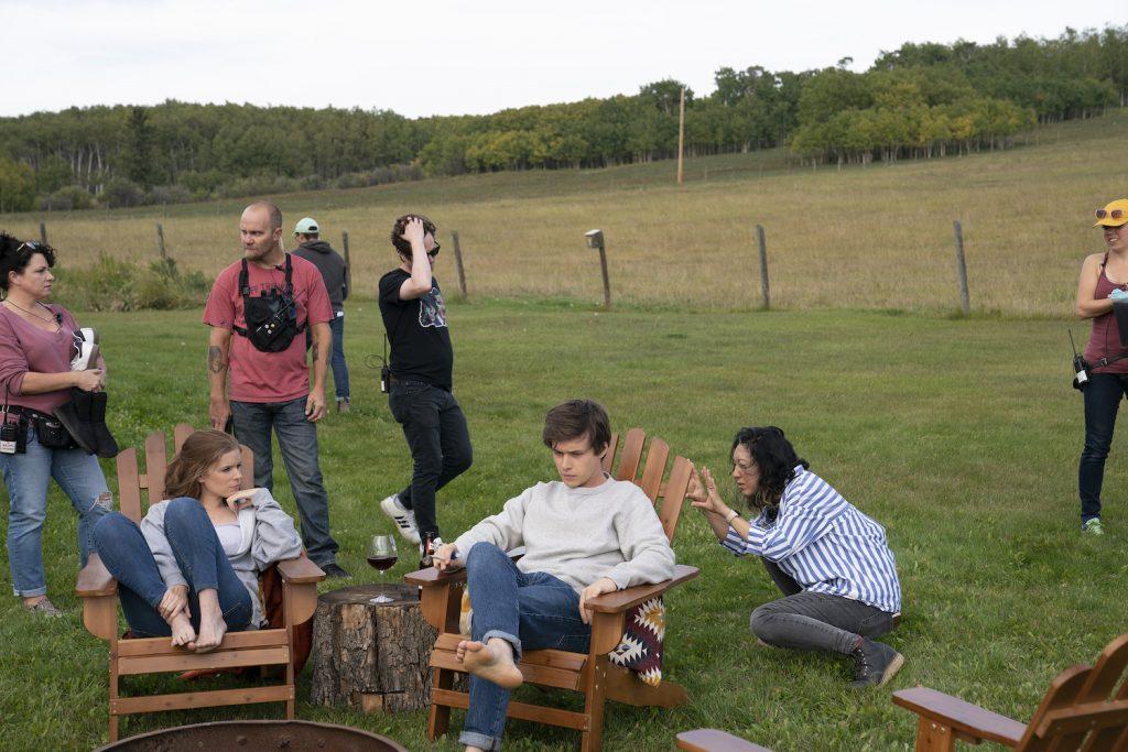 BTS of FX's A TEACHER with Kate Mara