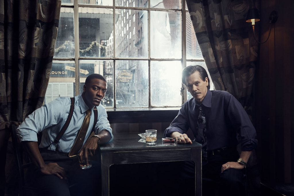 Aldis Hodge as Decourcy Ward and Kevin Bacon as Jackie Rohr in CITY ON A HILL