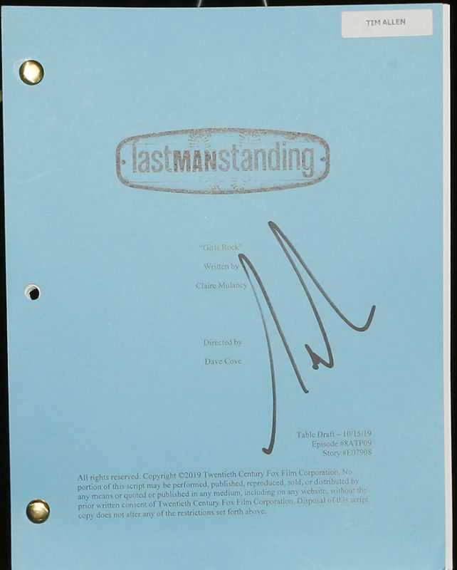 Last Man Standing script signed by Tim Allen