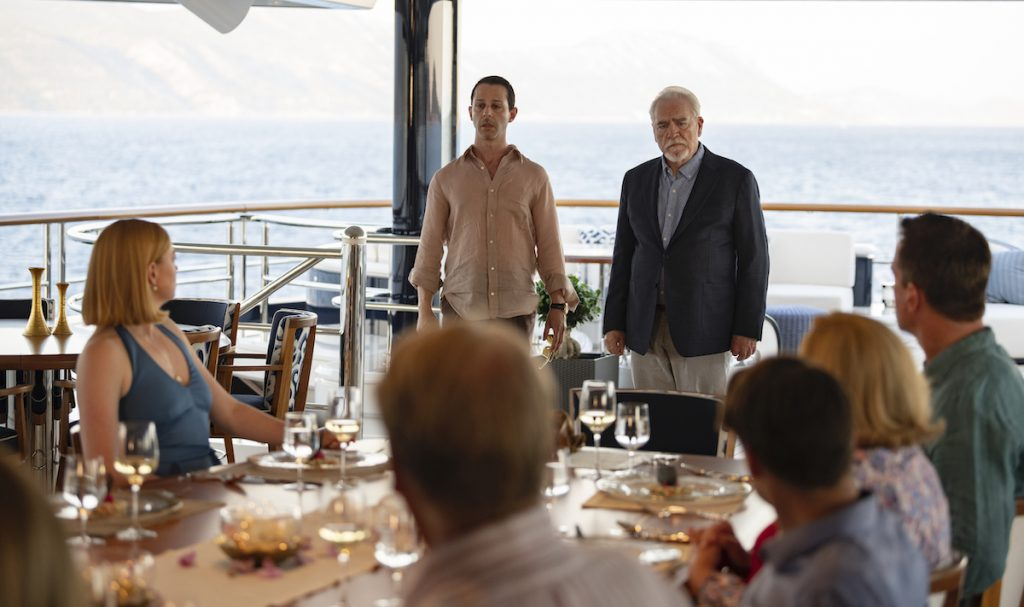 Jeremy Strong and Brian Cox in HBO's SUCCESSION