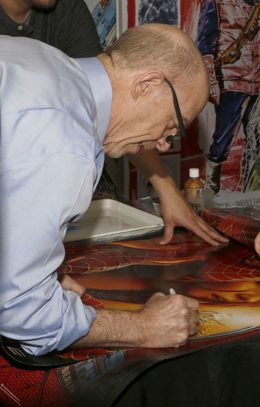 Spider-Man 2 poster signed by JK Simmons