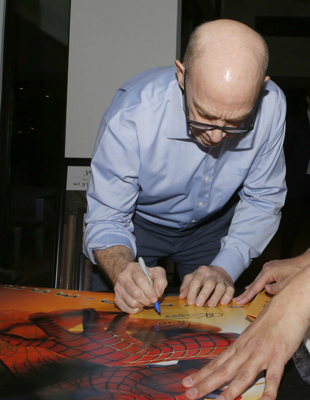 Spider-Man poster signed by JK Simmons