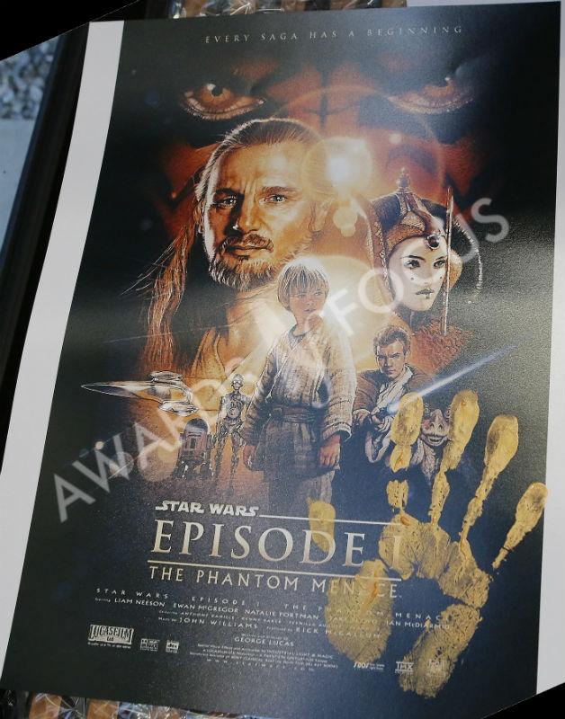 Star Wars: Phantom Menace poster signed by Drew Struzman