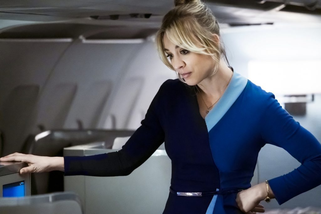 Kaley Cuoco in HBO Max's THE FLIGHT ATTENDANT